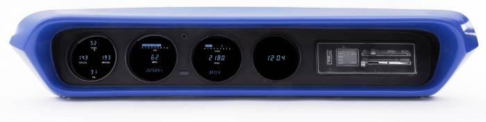 Dakota Digital - DAKVFD3-64P-GTO-Z - 64-67 Pontiac GTO/Lemans/Tempest VFD instrument system w/Blue and Teal Lenses