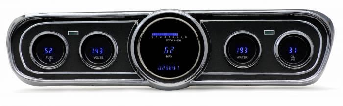 Dakota Digital - DAKVFD3-65M-Z - 65-66 Ford Mustang VFD system w/Blue and Teal Lenses