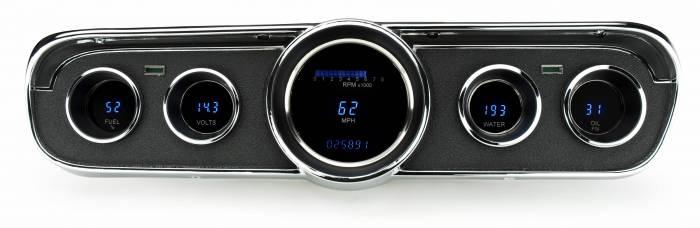 Dakota Digital - DAKVFD3-65M-GT-Z - 65-66 Ford Mustang VFD system GT styling w/Blue and Teal Lenses