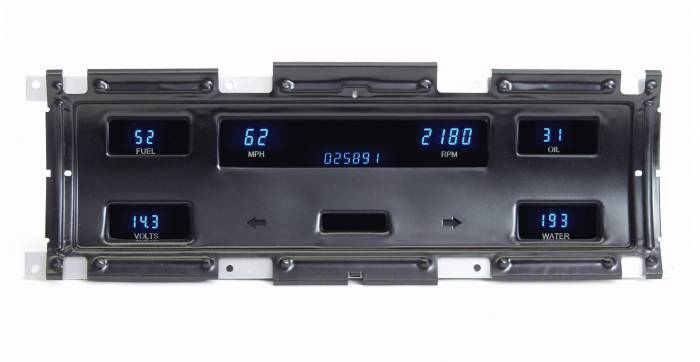 Dakota Digital - DAKVFD3-67F-PU-Z - 67-72 Ford Truck Instrument System w/Blue and Teal Lenses