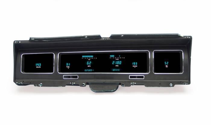 Dakota Digital - DAKVFD3-68C-IMP-Z - 68 Impala/Caprice Instrument System w/Blue and Teal Lenses