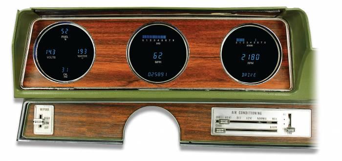 Dakota Digital - DAKVFD3-70O-CUT-Z - 70-72 Olds Cutlass VFD System w/Blue and Teal Lenses