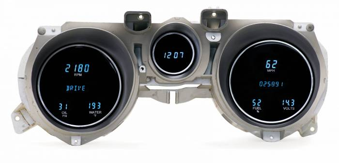 Dakota Digital - DAKVFD3-71M-Z - 71-73 Ford Mustang VFD3 System w/Blue and Teal Lenses