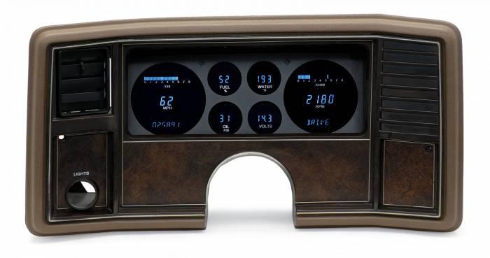 Dakota Digital - DAKVFD3-81C-MC-Z - 81-88 Monte Carlo/El Camino Six Gauge VFD Instrument System w/Blue and Teal Lenses