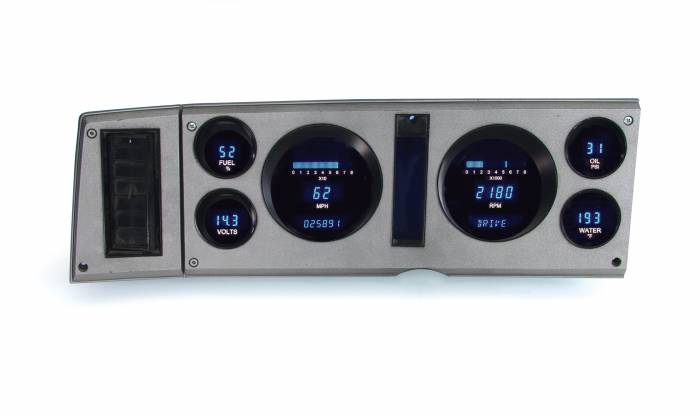 Dakota Digital - DAKVFD3-82C-S10-Z - 82-85 Chevy S-10 Instrument System w/Blue and Teal Lenses
