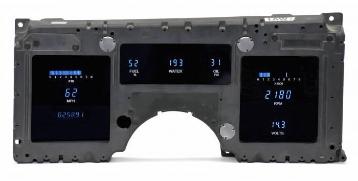 Dakota Digital - DAKVFD3-84C-VET-Z - 84-89 Corvette VFD system w/Blue and Teal Lenses
