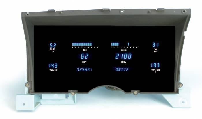 Dakota Digital - DAKVFD3-86C-S10-Z - 86-93 Chevy S-10 Instrument System w/Blue and Teal Lenses