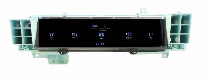 Dakota Digital - DAKVFD3-91C-CAP-AZ - 91-93 Caprice (fits models with original analog speedometers) w/Blue and Teal Lenses