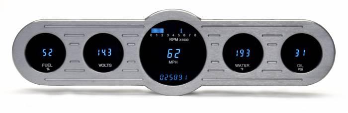 Dakota Digital - DAKVFD3-CNTR-5-Z - Five gauge universal instrument system w/Blue and Teal Lenses