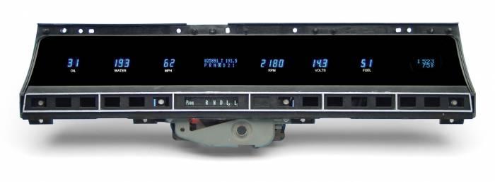 Dakota Digital - DAKVFD3X-69C-IM-CZ - 69-70 Impala/Caprice Instrument System w/ Clock-Outside Temp w/Blue and Teal Lenses