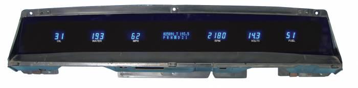 Dakota Digital - DAKVFD3X-71C-IMP-Z - 71-76 Impala/Caprice Instrument System w/Blue and Teal Lenses