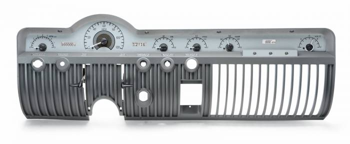 Dakota Digital - DAKVHX-50M-S-W - 1950-51 Mercury VHX System, Silver Alloy Style Face, White Display