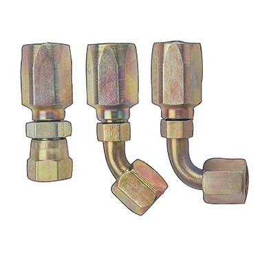 Fragola - FRA259010 -  Fragola Power Steering Hose Ends, SteeL -  Zinc Plated, -10AN, 90 Degree