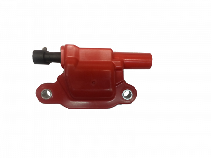 TSP - TSP-81015 - Performance Ignition Coil used on most LS3 and LSA Engines - LS Square Coil - Red/Black
