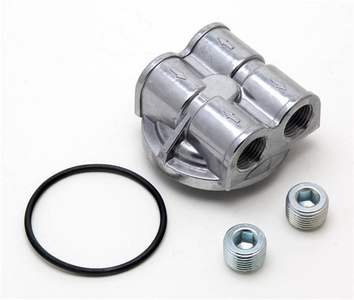 Trans-Dapt Performance Products - Trans-Dapt Performance Products 90 Degree Oil Filter Bypass Adapter 1458