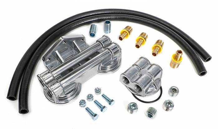 Trans-Dapt Performance Products - Trans-Dapt Performance Products Dual Oil Filter Relocation Kit 1727