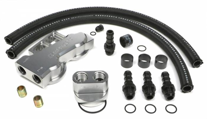 Trans-Dapt Performance Products - Trans-Dapt Performance Products Dual Oil Filter Relocation Kit 3387