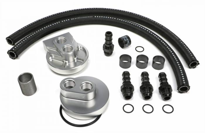 Trans-Dapt Performance Products - Trans-Dapt Performance Products Single Oil Filter Relocation Kit 3369