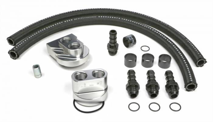 Trans-Dapt Performance Products - Trans-Dapt Performance Products Single Oil Filter Relocation Kit 3363