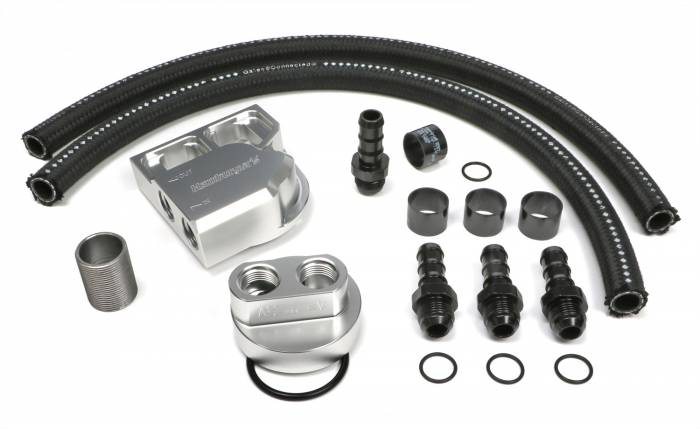 Trans-Dapt Performance Products - Trans-Dapt Performance Products Single Oil Filter Relocation Kit 3358
