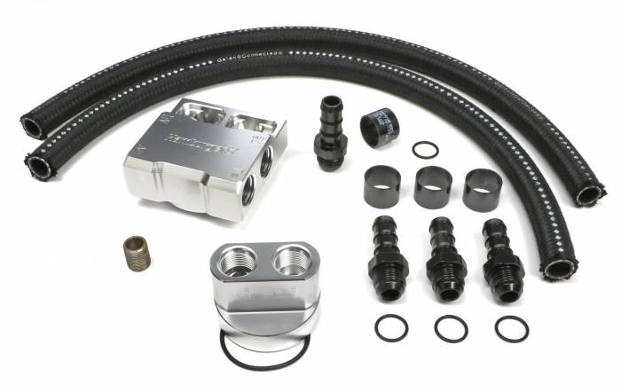 Trans-Dapt Performance Products - Trans-Dapt Performance Products Single Oil Filter Relocation Kit 3356
