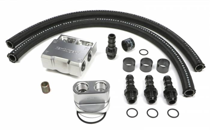 Trans-Dapt Performance Products - Trans-Dapt Performance Products Single Oil Filter Relocation Kit 3355