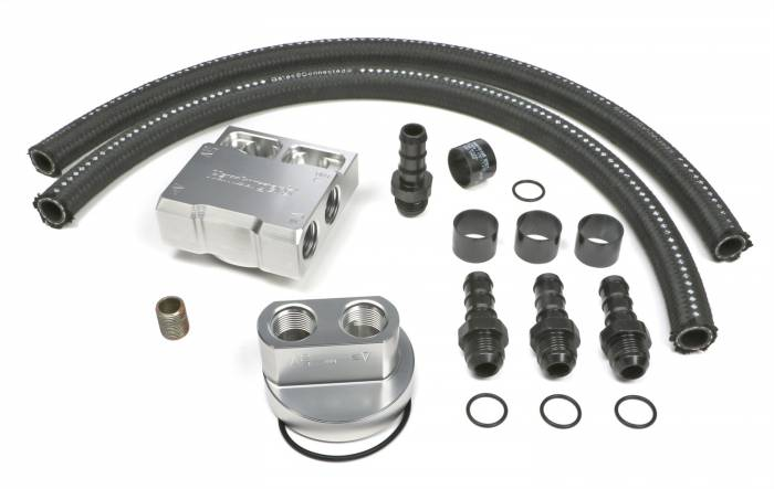 Trans-Dapt Performance Products - Trans-Dapt Performance Products Single Oil Filter Relocation Kit 3354
