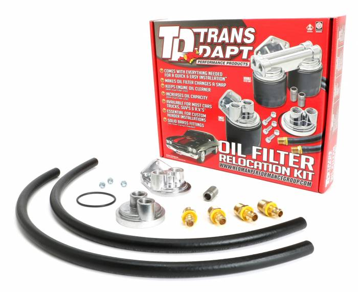 Trans-Dapt Performance Products - Trans-Dapt Performance Products Single Oil Filter Relocation Kit 1158