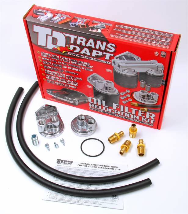 Trans-Dapt Performance Products - Trans-Dapt Performance Products Single Oil Filter Relocation Kit 1113