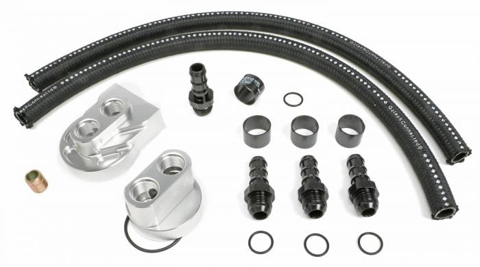 Trans-Dapt Performance Products - Trans-Dapt Performance Products Single Oil Filter Relocation Kit 3367