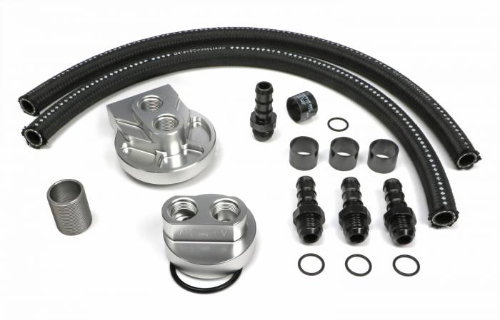 Trans-Dapt Performance Products - Trans-Dapt Performance Products Single Oil Filter Relocation Kit 3368