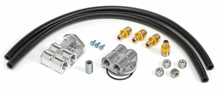 Trans-Dapt Performance Products - Trans-Dapt Performance Products Single Oil Filter Relocation Kit 1820