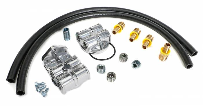 Trans-Dapt Performance Products - Trans-Dapt Performance Products Single Oil Filter Relocation Kit 1827