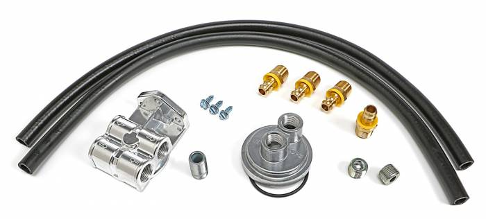 Trans-Dapt Performance Products - Trans-Dapt Performance Products Single Oil Filter Relocation Kit 1550
