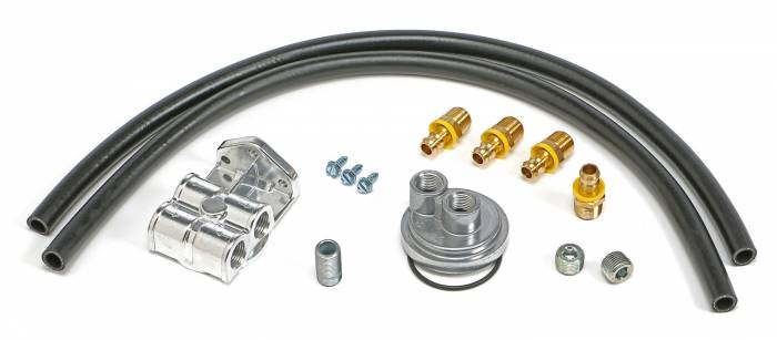 Trans-Dapt Performance Products - Trans-Dapt Performance Products Single Oil Filter Relocation Kit 1527
