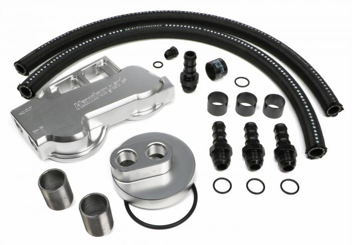 Trans-Dapt Performance Products - Trans-Dapt Performance Products Dual Oil Filter Relocation Kit 3389