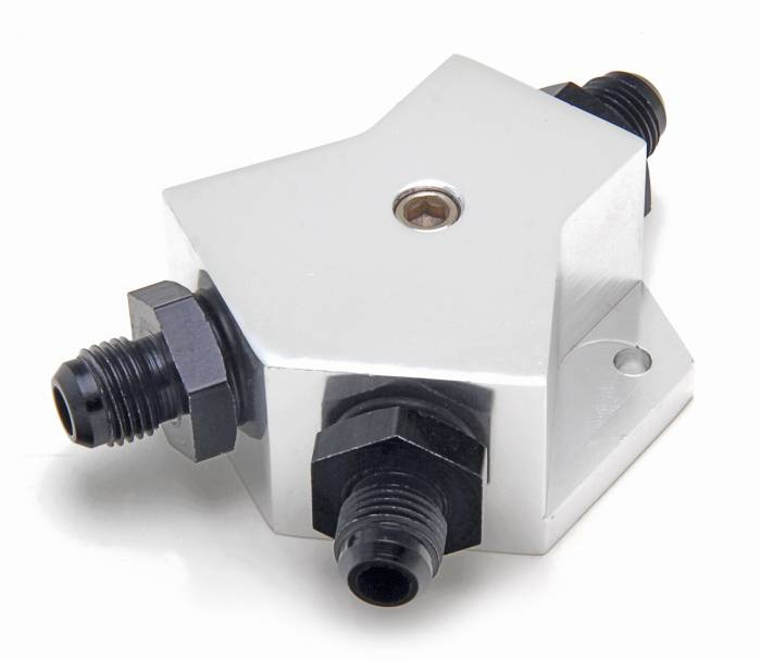 Trans-Dapt Performance Products - Trans-Dapt Performance Products Billet Fuel Y-Block Fitting 3349