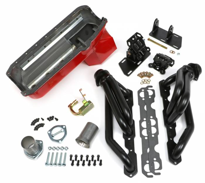 Trans-Dapt Performance Products - Engine Swap for Chevy V8 into 2WD S10 or S15 with UNCOATED Headers and FACTORY Heads Trans-Dapt TD99061