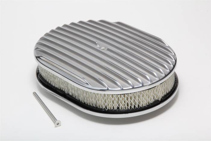 Trans-Dapt Performance Products - Trans-Dapt Performance Products Finned Aluminum Oval Air Cleaner Kit 6047