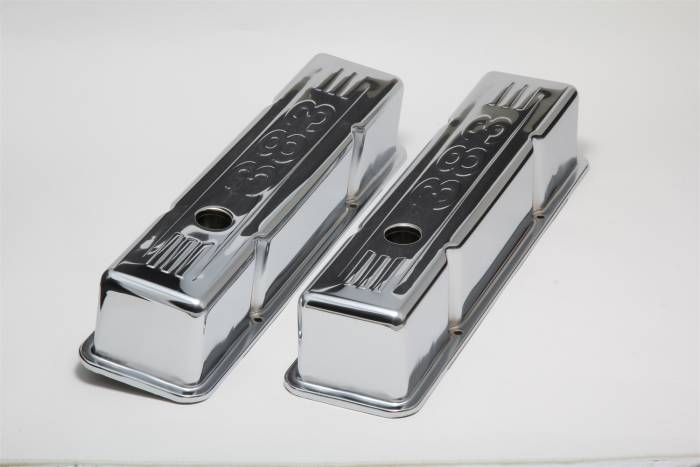 Trans-Dapt Performance Products - Trans-Dapt Performance Products Chrome Plated Steel Valve Cover 9858