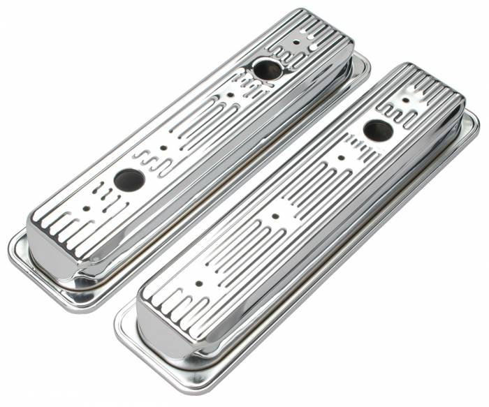 Trans-Dapt Performance Products - Trans-Dapt Performance Products Chrome Plated Steel Valve Cover 9702