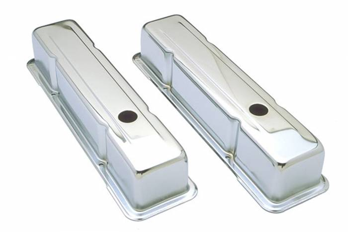 Trans-Dapt Performance Products - Trans-Dapt Performance Products Chrome Plated Steel Valve Cover 4962