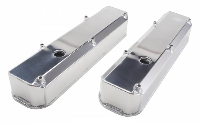 Trans-Dapt Performance Products - Trans-Dapt Performance Products Polished Aluminum Fabricated Valve Cover 1051