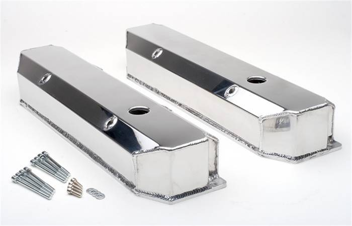 Trans-Dapt Performance Products - Trans-Dapt Performance Products Polished Aluminum Fabricated Valve Cover 1052
