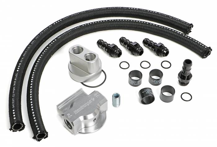 Trans-Dapt Performance Products - Trans-Dapt Performance Products Single Oil Filter Relocation Kit 3353