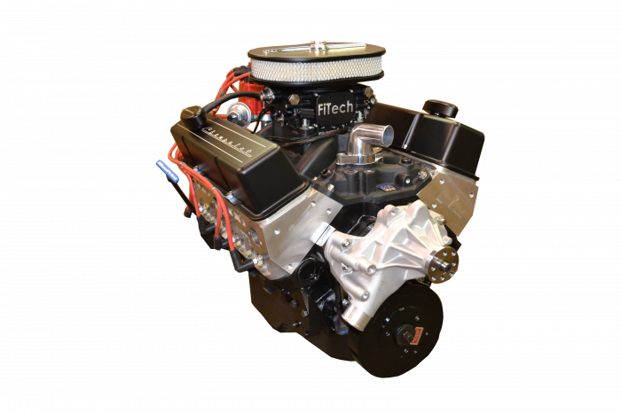 PACE Performance - BP38313CT1-2FX - Pace Fuel Injected SBC 383/430HP EFI Crate Engine with Black Trim