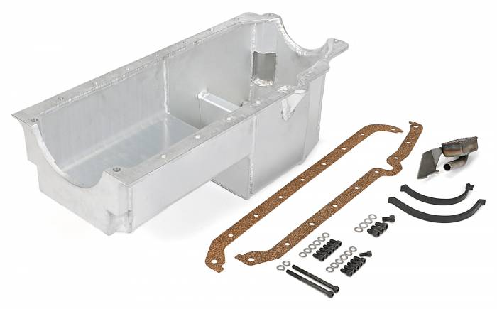 Trans-Dapt Performance Products - Trans-Dapt Performance Products Hamburgers Fabricated Aluminum Oil Pan 1176
