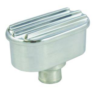 TSP - TSP-SP8486 - Oval Finned Push-in Breather, Polished Aluminum