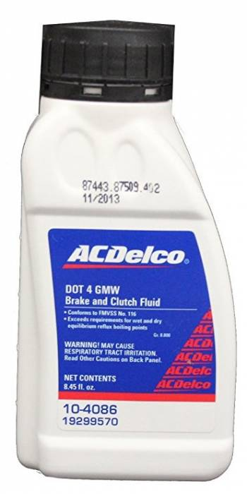 GM (General Motors) - 19299570 - GM/AC Delco Brake and Clutch Fluid, DOT 4 GMW, 8 oz.