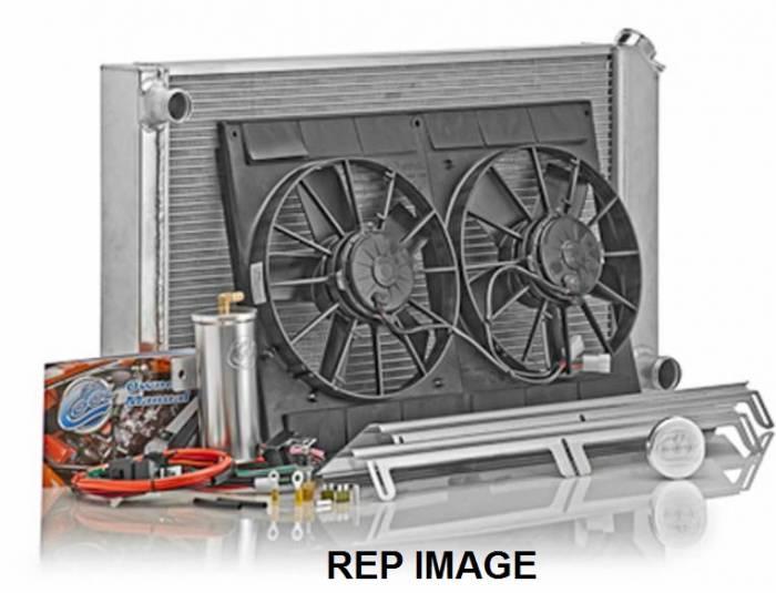 Be Cool Radiator - Direct-Fit Natural Finish Module for Mopar Gen III Hemi w/Auto Trans